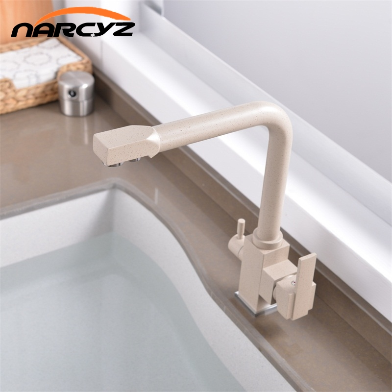 360 Degree Rotation with Water Purification Features Single Hole Crane For Kitchen Kitchen Faucets Deck Mount
