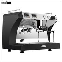 Xeoleo Коммерческая полуавтоматическая кофемашина 220 в эспрессо Эспрессо кофеварка из нержавеющей стали