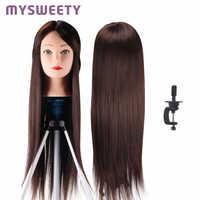 Professionelle Schaufensterpuppe 23 zoll Haar Styling Mannequin Lange Haar Friseur Kopf Ausbildung Puppe Weibliche Schaufensterpuppen