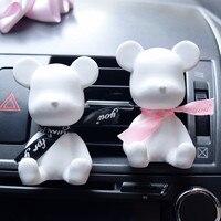 Cute Plaster Creative Car Air Freshener Handmade Bear Shade Air Conditioning Vent Car Air Fragrance Auto
