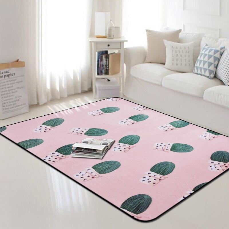 Le cactus grand tapis salon chambre tapis nordique tapis canapé doux enfants chambre jouer tapete maison carton tapis mode tapis