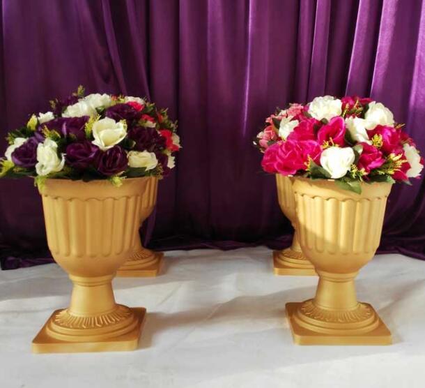 Aliexpress Buy Wholesale Plastic Trumpet Vase Gold Pvc Roman