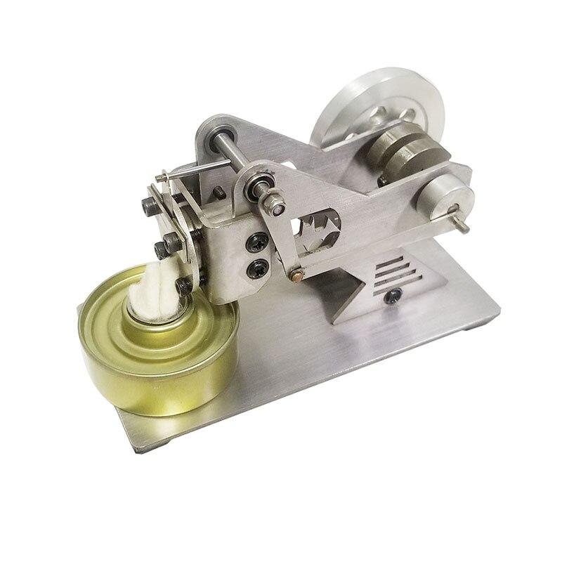 Modèle de moteur Stirling type d'aspiration moteur à vapeur tout métal moteur miniature jouet cadeau.