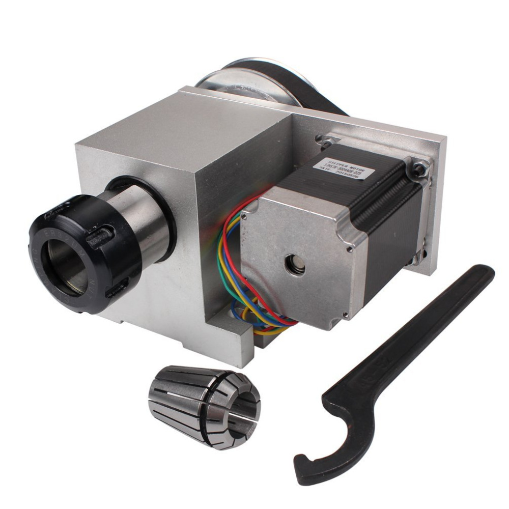 CNC Rotational Hollow Shaft 4th Rotary Axis 4th Axis Router Rotational Er32 3-20mm Chuck a Axis for Engraving Machine cnc 5 axis a aixs rotary axis three jaw chuck type for cnc router