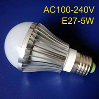 Free shipping 5pcs/lot high power 5w E27 led bulbs,E27 5w led lights