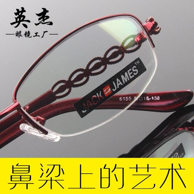 El nuevo medio de la moda gafas de montura negra marco de metal marco de las lentes mujeres de los vidrios prescription eyewear 6155 gafas de marco claros