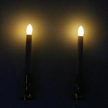 2PCS/lot Solar Powered Wall Lamp Led candle lantern Light auto sensor Home Garden Window Path Patio Decor-Warm white