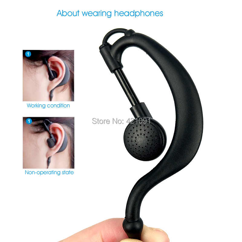 VOX PTT Oortelefoon Headset voor Motorola HT750 HT1250 GP328 GP329 GP340 GP380 MTX850 PRO5150 Walkie Talkie Draagbare Radio Oorhaak