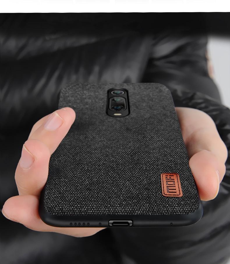 for Xiaomi Mi 9T Pro case cover protective fabric cloth silicone back capas MOFi original global Mi9T business case