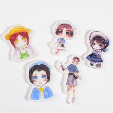 1PCS Game Identity V Acrylic Badge Doctor Lawyer Lucky Guy Gardener Magician Explorer Mechanic Pendant DIY Pin(China)