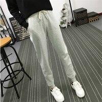 Lato Nowe Centrum Długie Spodnie Kobiet Rozrywka Miękkie Spodnie dla Kobiet Sznurek Solid Color Casual Harem Spodnie Kobieta Rozmiar M-2XL