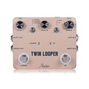 Image 1 - Rowin Twin Looper Station Electric Guitar Effect Pedal Loop Station for Guitarists Golden