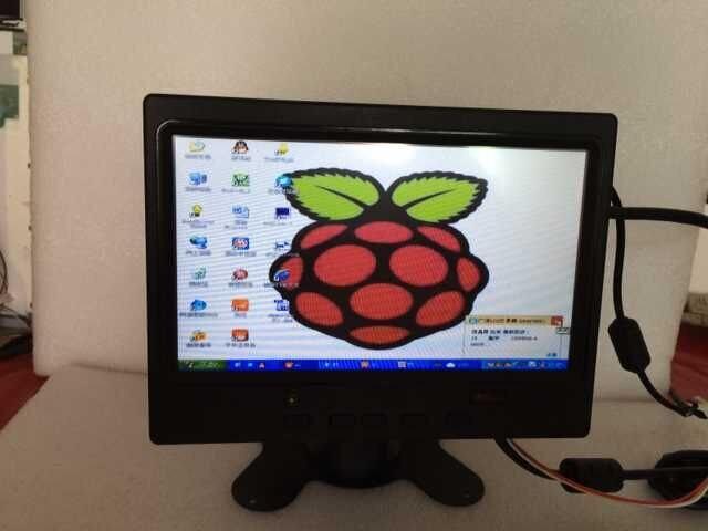 Полный новый 7 дюймов 1024x600 Raspberry Pi 3 ЖК-дисплей монитор с HDMI VGA AV Экран Дисплей для pcDuino банан Pi автомобиля