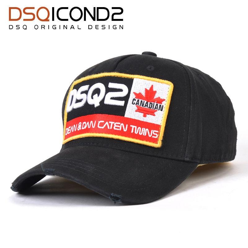 DSQICOND2 Brand DSQ2 Casquette Hats Solid Pattern Hats Letters Casquette Dad Hip Hop Baseball Cap Snapback Hat Cap for Man Woman