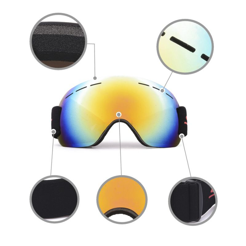 Unisex Frameless Ski Goggles Mask Winter Snowmobile Motocross Sunglasses Windproof UV Protection Winter Skiing Glasses Vector