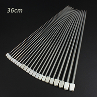 Hot 22Pcs Set Stainless Steel Single Pointed Knitting Needles For Craft Weave Tool 11 Sizes 14