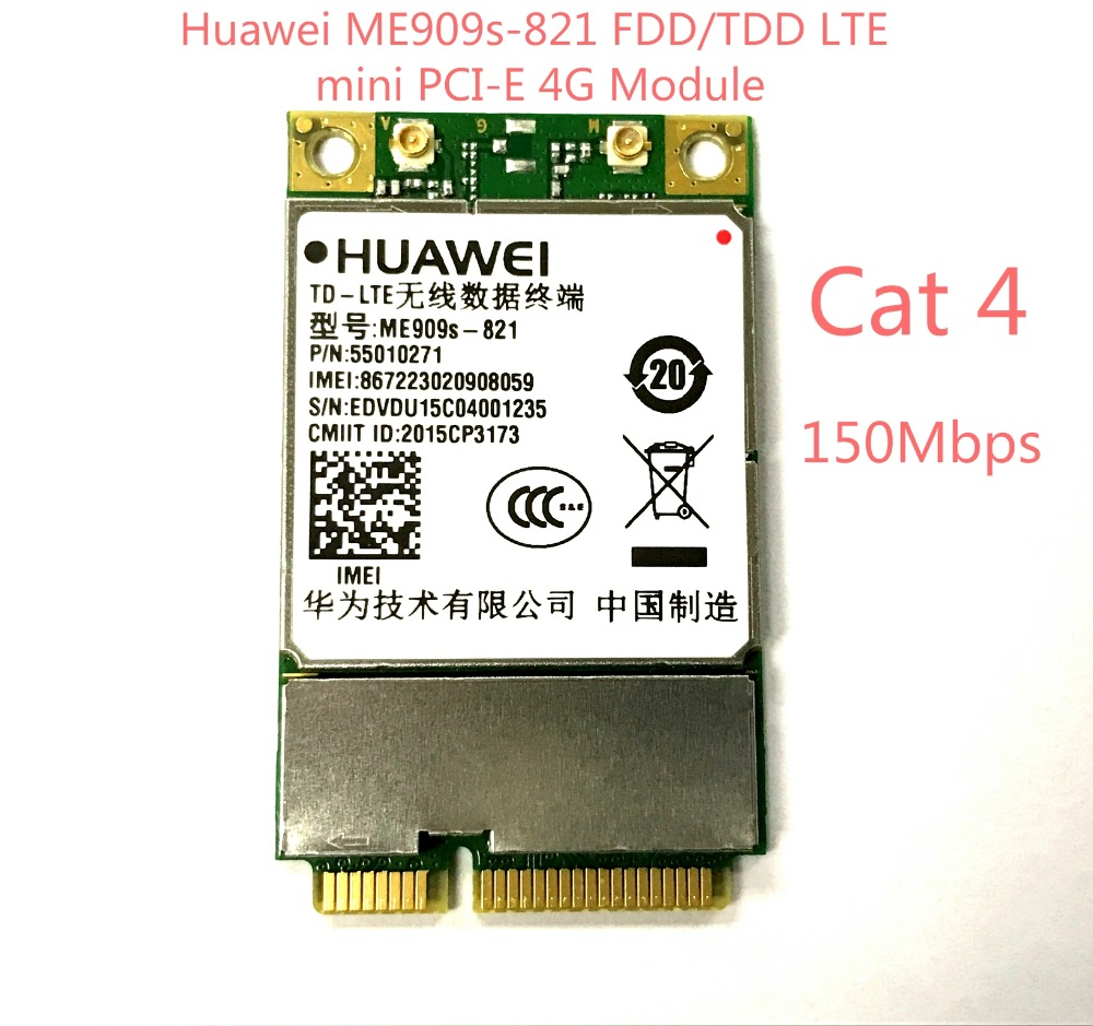 NEW Unlocked ME909s-821 NEW&Original Mini PCIe FDD LTE 4G WCDMA GSM Module TDD LTE 4G Card 4g module 4g network card lte module card full cnc js9331 development board supporting