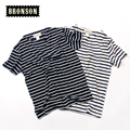 2016 Summer stripe Men t-Shirt Tops Tees Short Sleeve black and white stripe Round  O Neck T shirt Male navy shirt