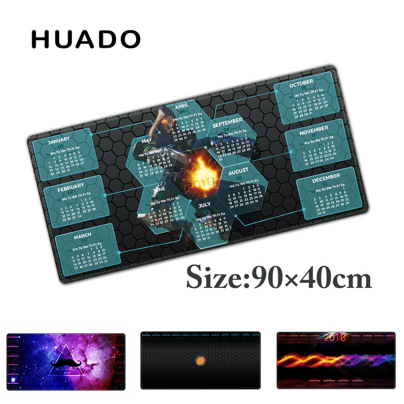2018 calendar Gaming Mouse Pad mouse Mat for gamer Laptop Keyboard Mat XL for world of warcraft/overwatch/cs go/steelseries/lol