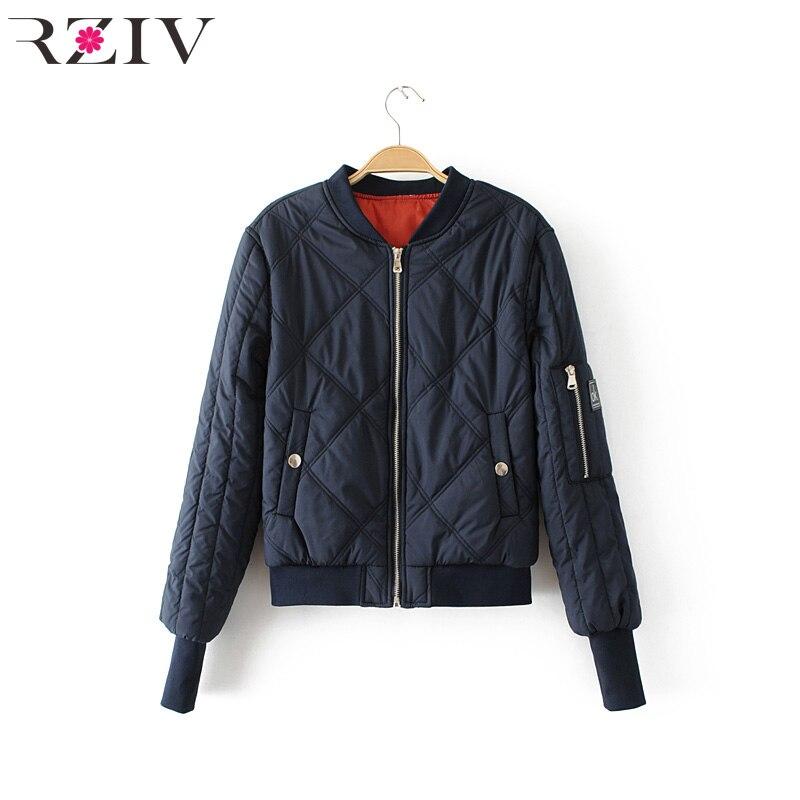 RZIV 2017 autumn jacket women casual splice bomber jacket long sleeve women coat patch womens clothing baseball jacket