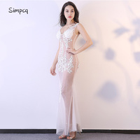 Fashion Woman Mesh Stitching Patchwork Dress Solid 9 Colors Summer All Match Style Lady Cocktail Party