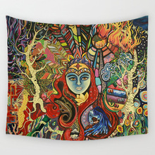 Durable Polyester Wall Hanging Gobelin with Mandala Pattern