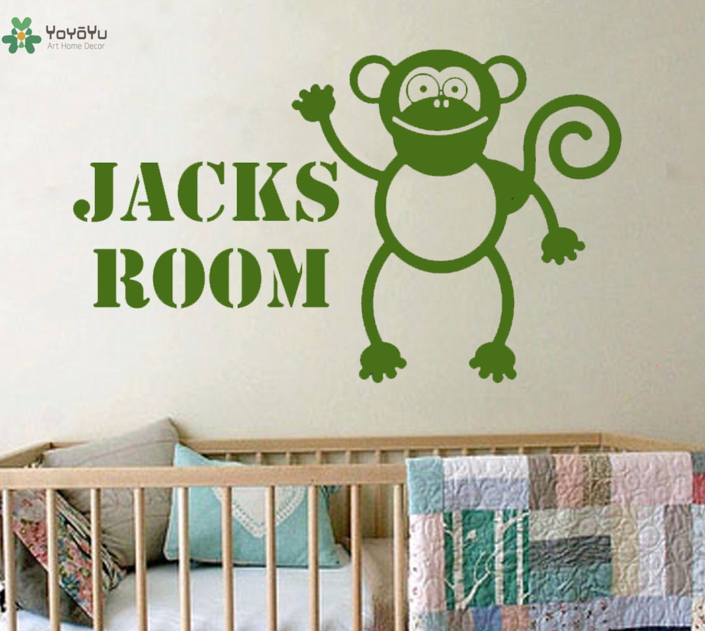 YOYOYU Wall Decal Vinyl Wall Decoration Personalised Monkey Art Sticker Childrens Bedroom Removeable Home Decor Poster YO366 in Wall Stickers from Home Garden