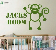 YOYOYU Wall Decal Vinyl Decoration Personalised Monkey Art Sticker Childrens Bedroom Removeable Home Decor Poster YO366