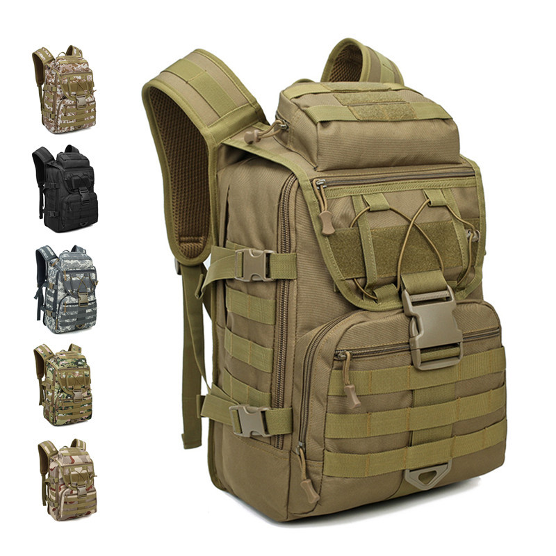 tactical backpack sports mountaineering military backpacks male camouflage travel bag 40L outdoor bag army waterproof rucksack 35l waterproof tactical backpack military multifunction high capacity hike camouflage travel backpack mochila molle system