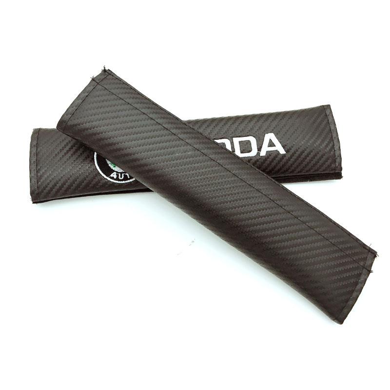 2pcs Auto Seatbelt Shoulder Protection Padding Winter Summer Car Seatbelts For VOLKSWAGEN SKODA Logo car styling