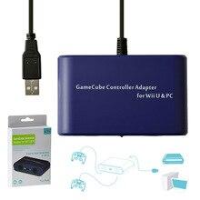 Mayflash Adaptador de 2 puertos para GameCube GC, convertidor para Wii U, Switch, Mac OS, Windows, PC, USB
