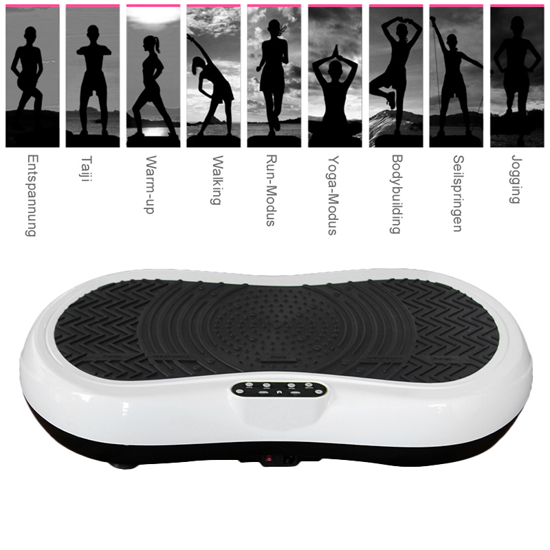 Fat Burning Vibration Fitness Massager Vibrating Plate Body Shaper Weight Loss Power Fit Crazy Slimming Device Free shipping! free shipping 7 in 1 ultrasonic 1mhz ultra sound weight loss led photon infrared fat burning body massager beauty device