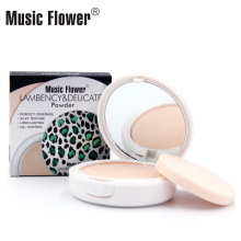 Dropshipping Music Flower Lambency&Delicate0 Powder Long lasting Face Base Powder Oil-control Compact Powder Perfect Coverage