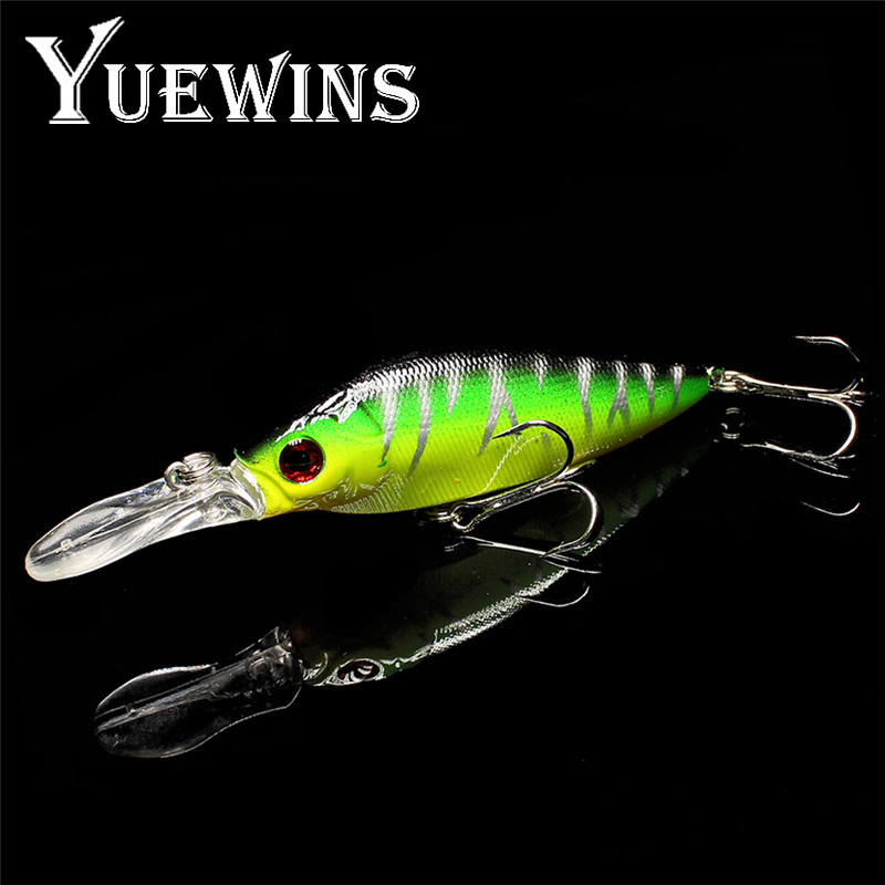Yuewins Wobbler Fishing Lure 11cm 12.8g Crankbait Minnow Hard Bait Peche Bass Trolling Artificial Bait Pike Carp Fishing QA176 allblue slugger 65sp professional 3d shad fishing lure 65mm 6 5g suspend wobbler minnow 0 5 1 2m bass pike bait fishing tackle