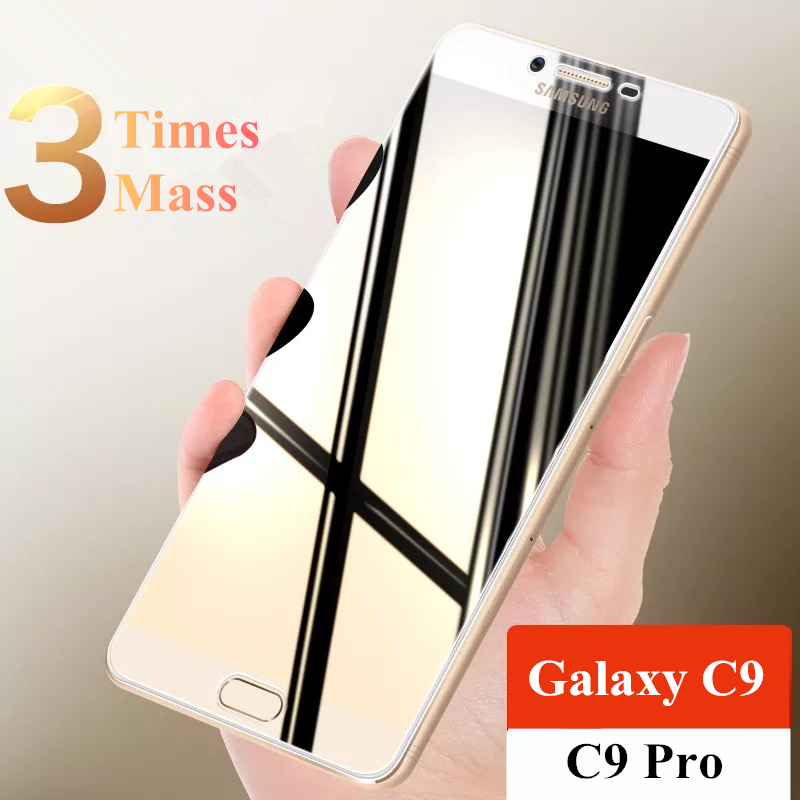 Full Screen Cover Tempered Glass For Samsung Galaxy C9 Pro C9000 HD Explosion-proof Screen Protector For Galaxy C9 Pro 6.0 Inch