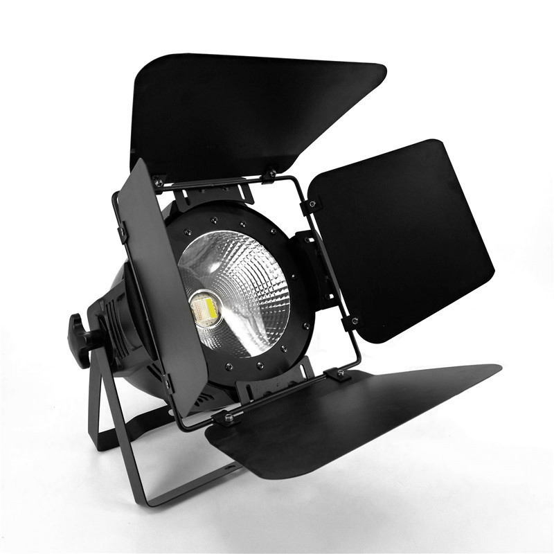 LED Par Light COB 100W With Barn Doors High Power Aluminium Cool White And Warm White Wash Strobe Effect Stage Lighting