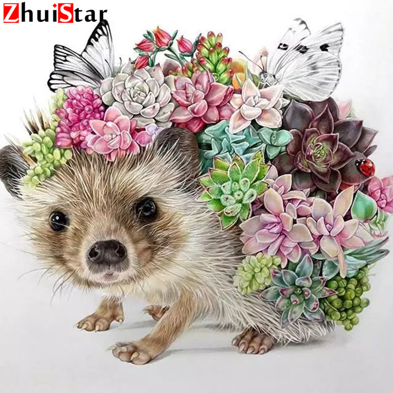 Full squarediamond painting Flower Diamond embroidery Cute hedgehog needlework mosaic cross stitch home decoration butterfly WHHFull squarediamond painting Flower Diamond embroidery Cute hedgehog needlework mosaic cross stitch home decoration butterfly WHH