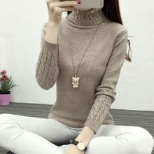 Laamei Thick Warm Women Turtleneck 2018 Winter Women Sweaters And Pullovers Knit Long Sleeve Cashmere Sweater Female Jumper Tops