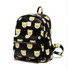 Корейская версия Мини Рюкзак 2017 женщин новый милый мультфильм мода досуга рюкзак школьный ранец ветер заклепки