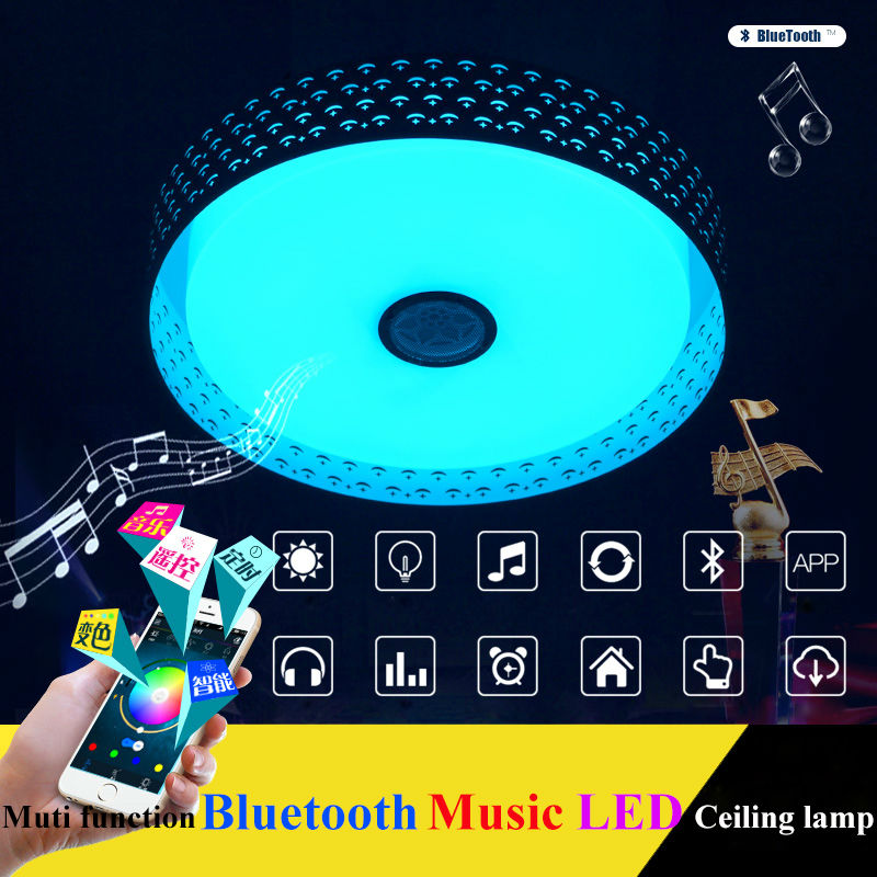 2016 New RGB Dimmable 36W LED ceiling Light with Bluetooth & Music 90-260V modern Led ceiling lamp for 15 -30 Square meters 2017 new rgb dimmable 36w led ceiling light with bluetooth