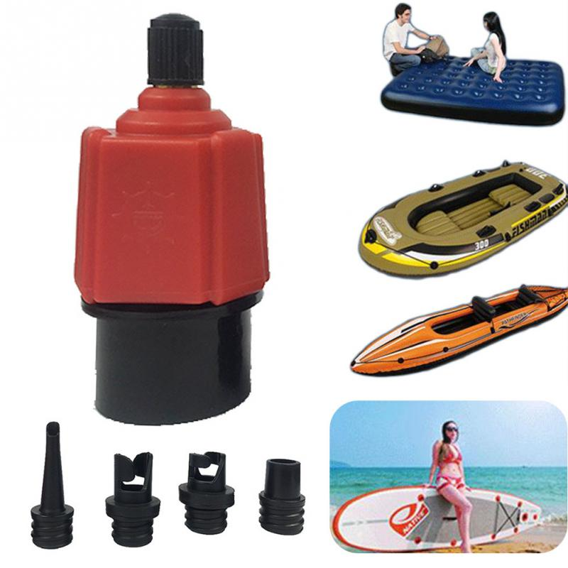 4in1 Nylon Valve Adapter Air Pump Nozzles for Canoe Inflatable Boat Dinghy NEW