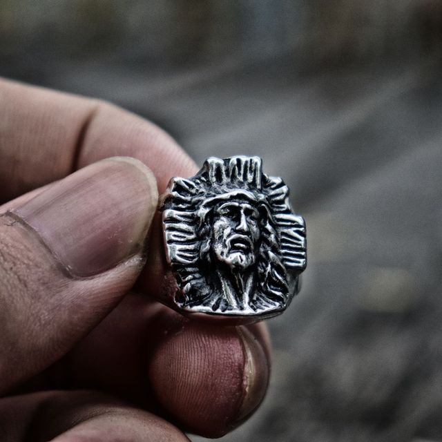 Vintage Jesus Redemption Cross Stainless Steel Ring Blessing Amulet Jewelry