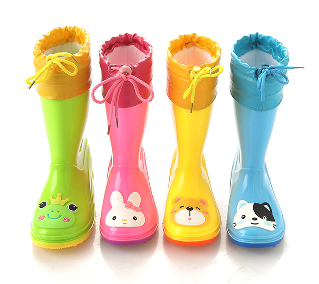 Rainy Season 2019 Spring New Kids Cartoon Fashion Rainfall Shoes Children Rain Boots Rubber Boots Baby Water Shoes