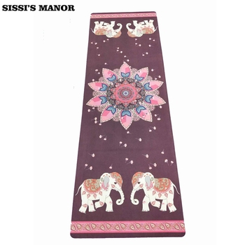 Folding Natural Rubber Yoga Mat eco-friendly slip-resistant Hot Yoga best yoga mat for hot yoga Fitness Gym mat Lotus&elephent