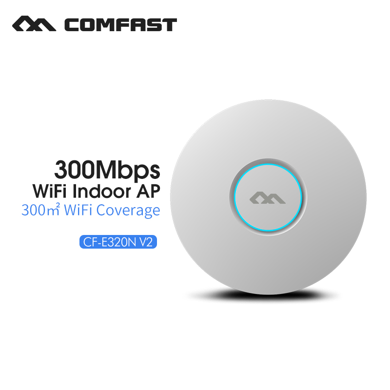 300Mbps Wireless ceiling AP 2.4Ghz extender business use AP wireless indoor wifi router marketing system COMFAST CF-E320N-V2 comfast cf e325n ceiling ap 300mbps wifi router wireless repeater