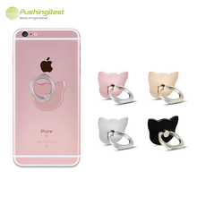 Cat Finger Ring Holder 360 Degree Phone Stand Universal Ring hook bracket For iPhone 6 7Plus For Samsung GPS MP3 Car Mount Stand