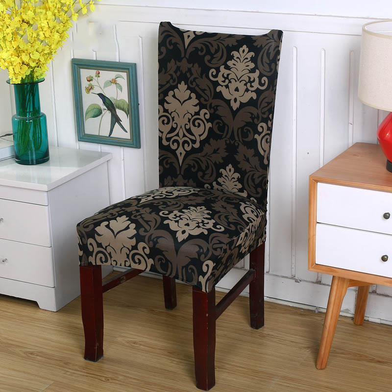 US $4.74 5% OFF|Chair Cover Spandex Printing Elastic Dining Chair Covers  Removable Anti dirty Seat Cover Stretch fundas sillas comedor elastica-in  ...