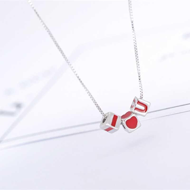 Lettre d'amour littéraire sauvage 925 argent Sterling clavicule chaîne tempérament personnalité à la mode femme collier SNE232