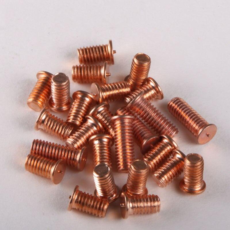 Plating Copper Welding Screws / Welding Screws/ Spot Welding Screws /Bolt    M4*8--M4*30 GB902 special copper screws copper hexagon bolt copper outer hexagonal screws m16 80