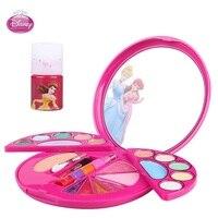 frozen disney kids makeup cosmetics for girls safety innocuity eye shadow Princess cosmetics box children makeup set girl toys